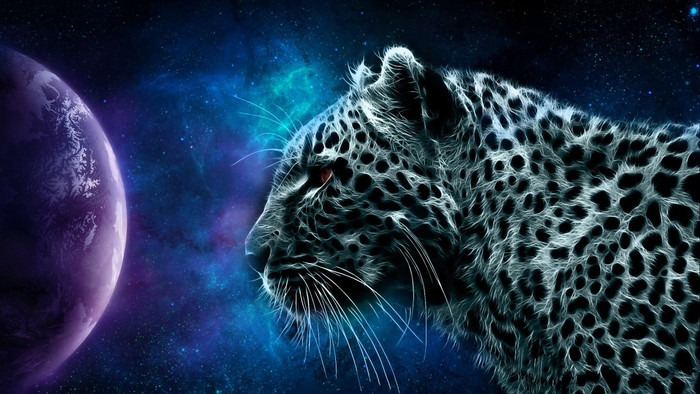 HD Wallpaper of Animal, Leopard, Space, Planet