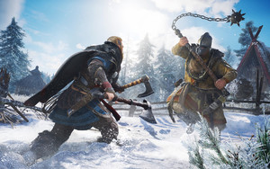 Preview wallpaper Snow, Viking, Warrior, Valhalla, Assassin's Creed