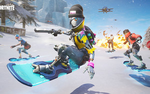 Preview wallpaper Video Game, Fortnite, Hero, Snowboard