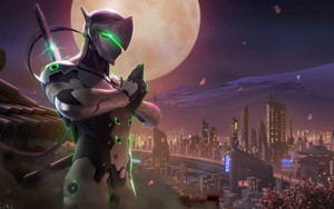 Preview wallpaper of Genji, Vode Game, Overwatch