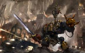 Смотреть обои warhammer 40k, space marines, dreadnought