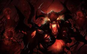 Смотреть обои Dota 2: shadow fiend nevermore (невермор)
