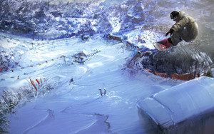 Preview wallpaper of Video Game, Shaun White Snowboarding, Art