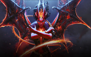 Preview wallpaper Demon, DotA 2, Girl, Horns, Queen Of Pain, Wings