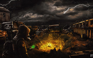 Preview wallpaper Post Apocalyptic, S.T.A.L.K.E.R. 2, Art, Poster