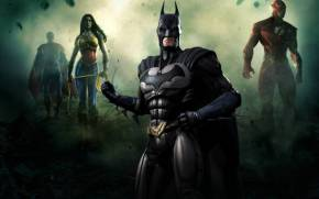 Смотреть обои Injustice: Gods Among Us: batman, superman, flash