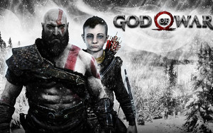 Preview wallpaper of God of War, Game 2018, Kratos, Atreus
