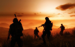Preview wallpaper Silhouette, Tom Clancy's Ghost Recon, Wildlands