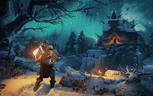 Preview wallpaper Snow, Viking, Valhalla, Assassin's Creed