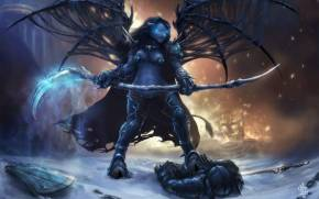 Смотреть обои World of Warcraft: Deathknight таурен