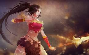 Смотреть обои league of legends, nidalee