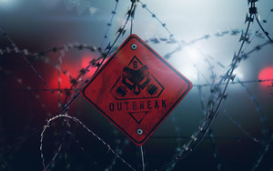 Preview wallpaper Rainbow Six Siege,Outbreak, logo