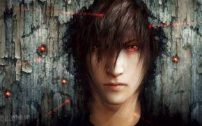 Preview wallpaper  final <b>fantasy</b> xv, noctis lucis caelum под прицелом