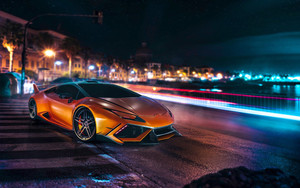 Preview wallpaper of Car, Lamborghini Huracan, Long-exposure, NFS