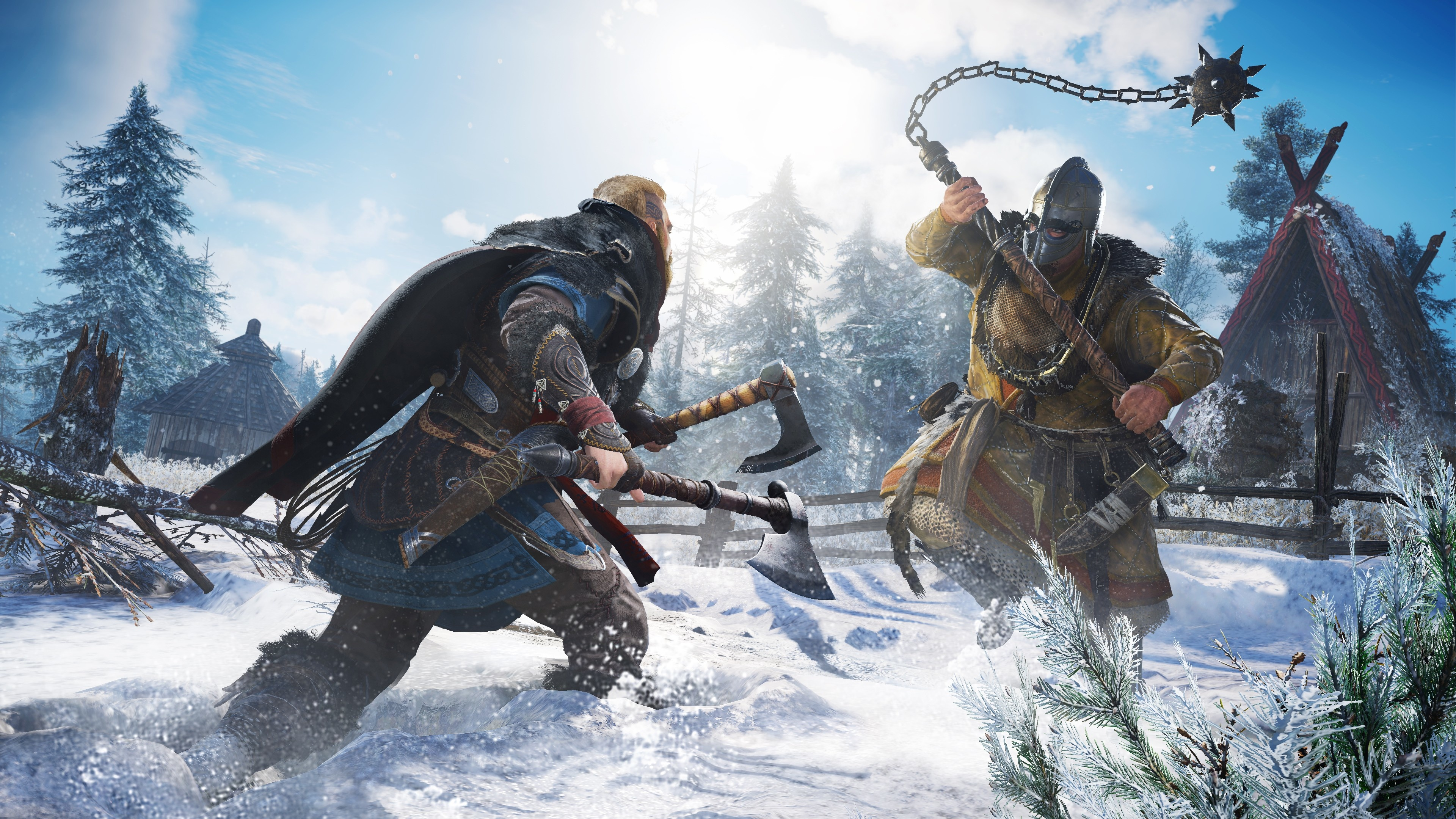 Wallpaper Of Snow Viking Warrior Valhalla Assassin S Creed Background Hd Image
