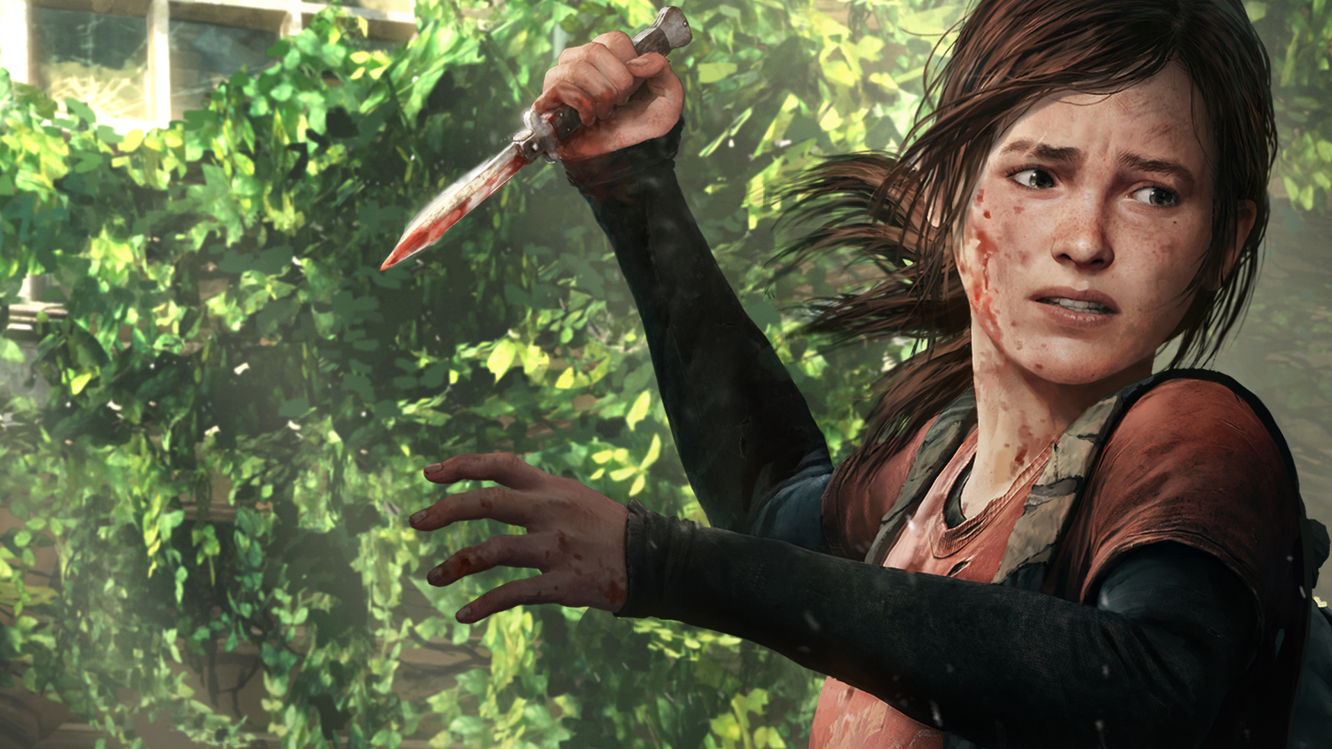 Wallpaper Of The Last Of Us Ellie Elli Nozh Background