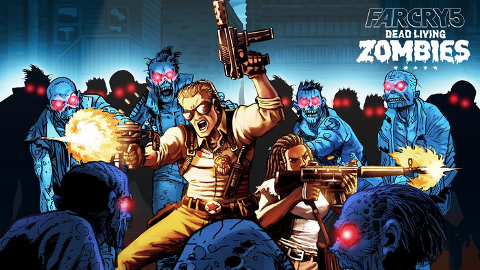 HD Wallpaper of Art, Poster, Far Cry 5, Dead Living Zombies
