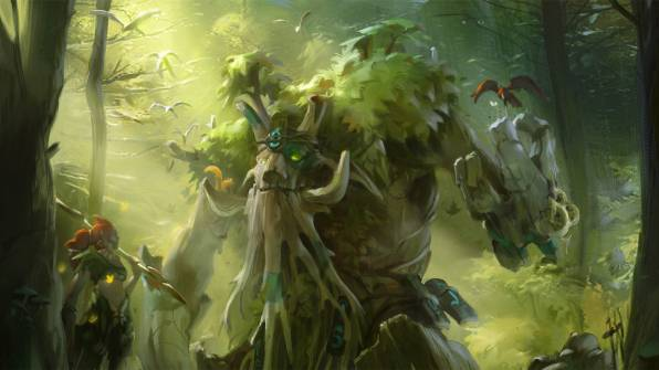 Обои enchantress, treant protector, dota 2