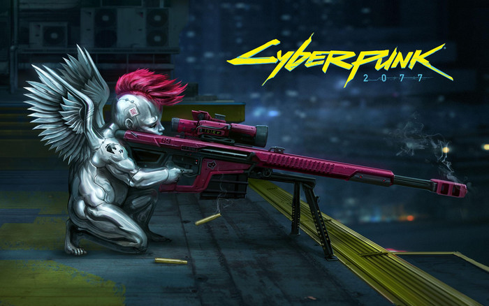 Wallpaper of Angel, Cyberpunk 2077, Sniper, Weapon background & HD image