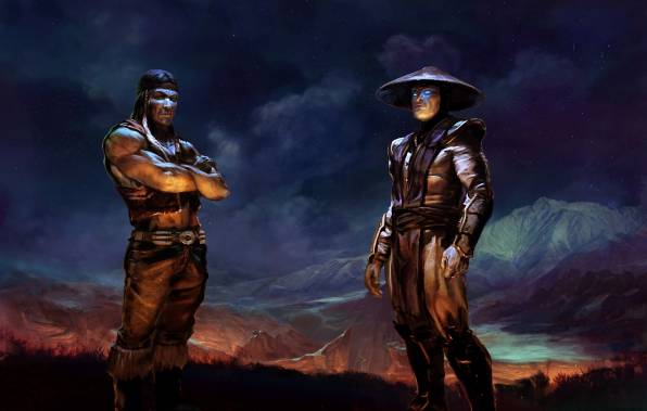 Обои raiden, mortal kombat, nightwolf