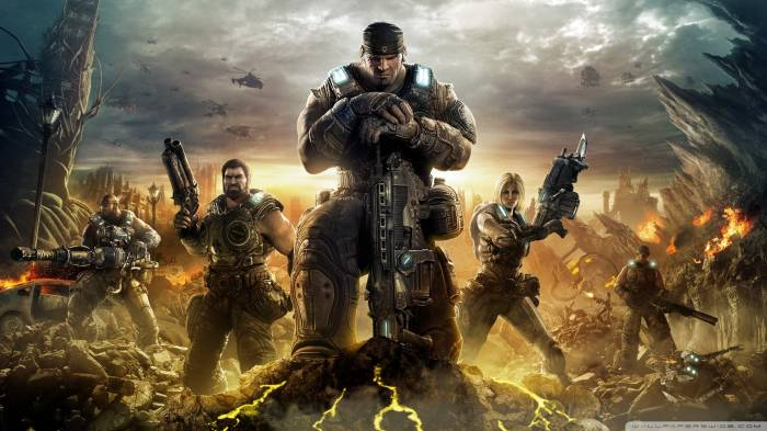 Обои Gears of War 3, герои