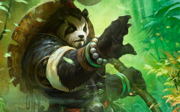 Обои world of warcraft mists of pandaria, панда, лес