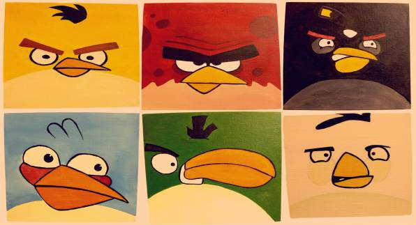 HD Wallpaper angry birds, злые птицы