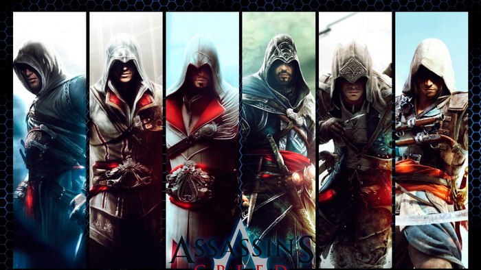 HD Wallpaper Assassing Creed, Collage, Characters, Posters