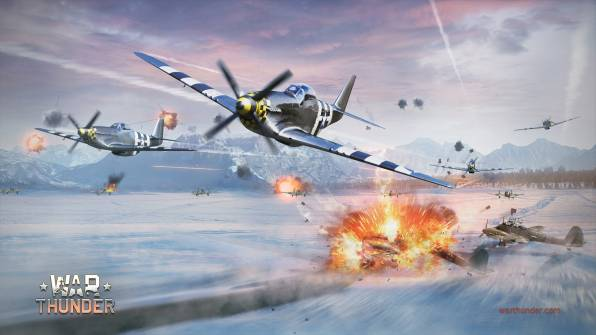 HD Wallpaper War Thunder, P-51 Mustang