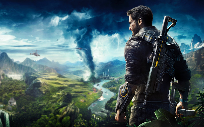 HD Wallpaper of Blur, Just Cause 4, Rico Rodriguez,  Video Game