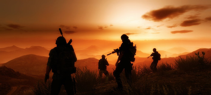 HD Wallpaper Silhouette, Tom Clancy's Ghost Recon, Wildlands