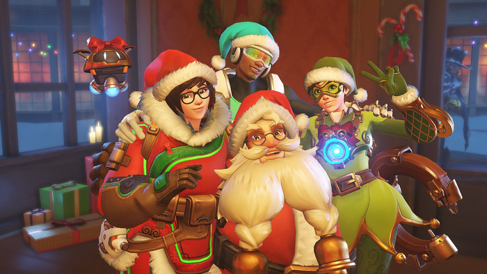 HD Wallpaper of Overwatch, Santa