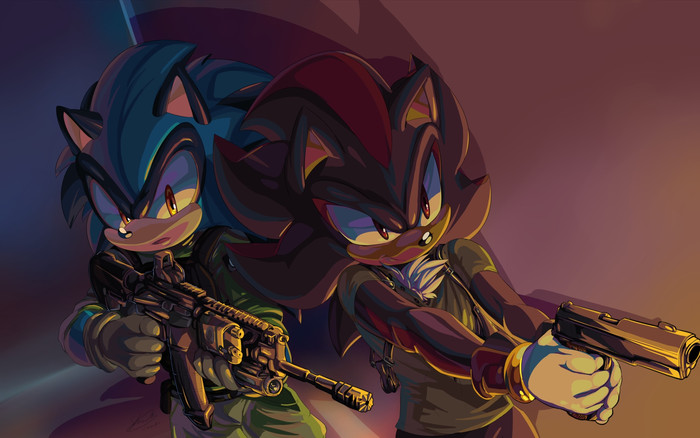 HD Wallpaper Shadow, Sonic, The Hedgehog, Weapon, Video Game