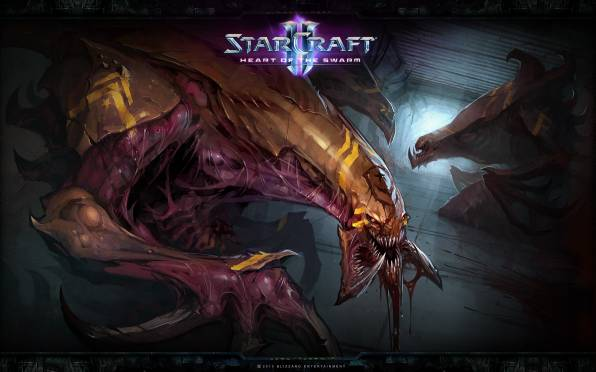HD Wallpaper of StarCraft 2, Heart of the Swarm, Гидралиск, Зерги