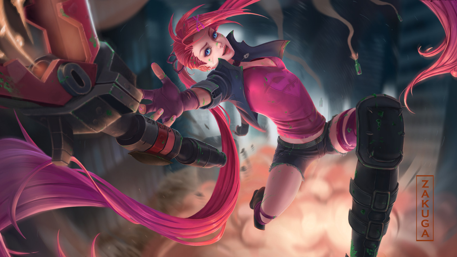 Wallpaper Of Jinx League Of Legends Video Game Background Hd Image