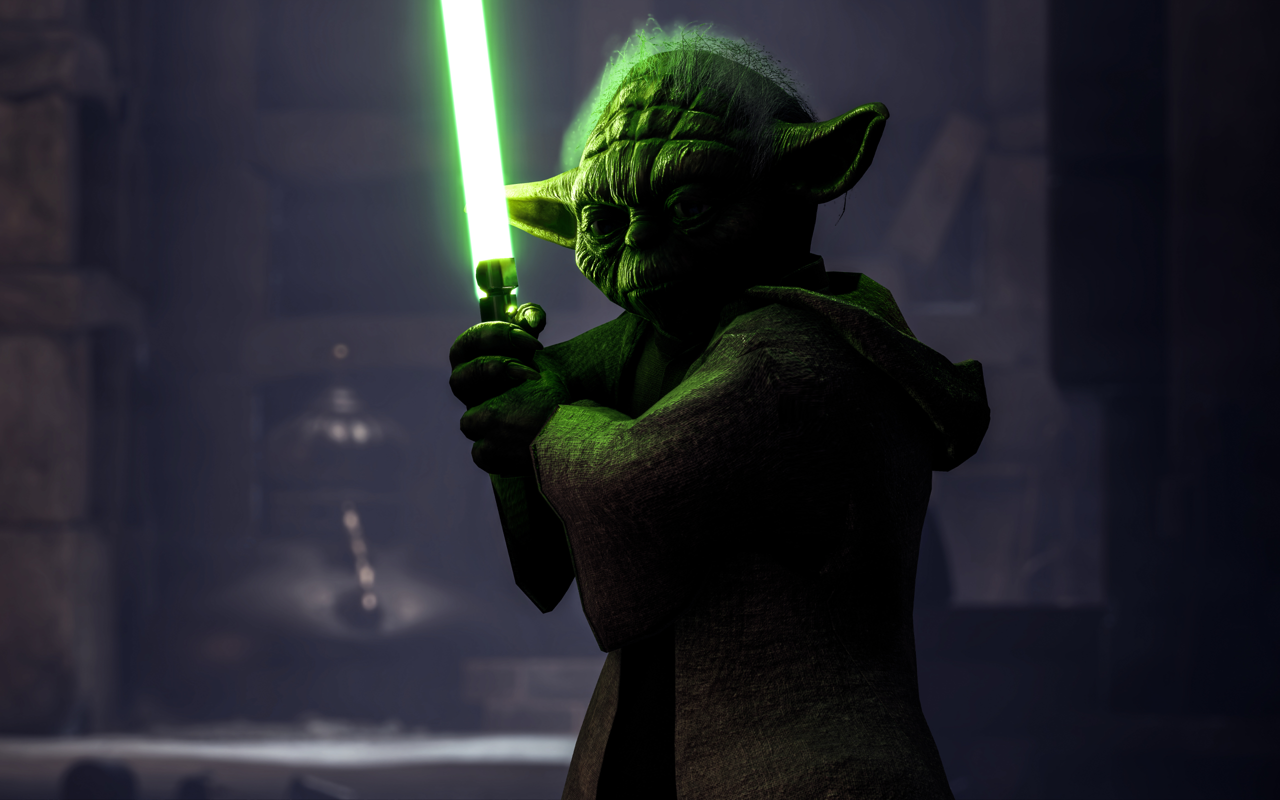 Wallpaper Video Game Yoda Star Wars Battlefront Ii 2017 Ubackground Com