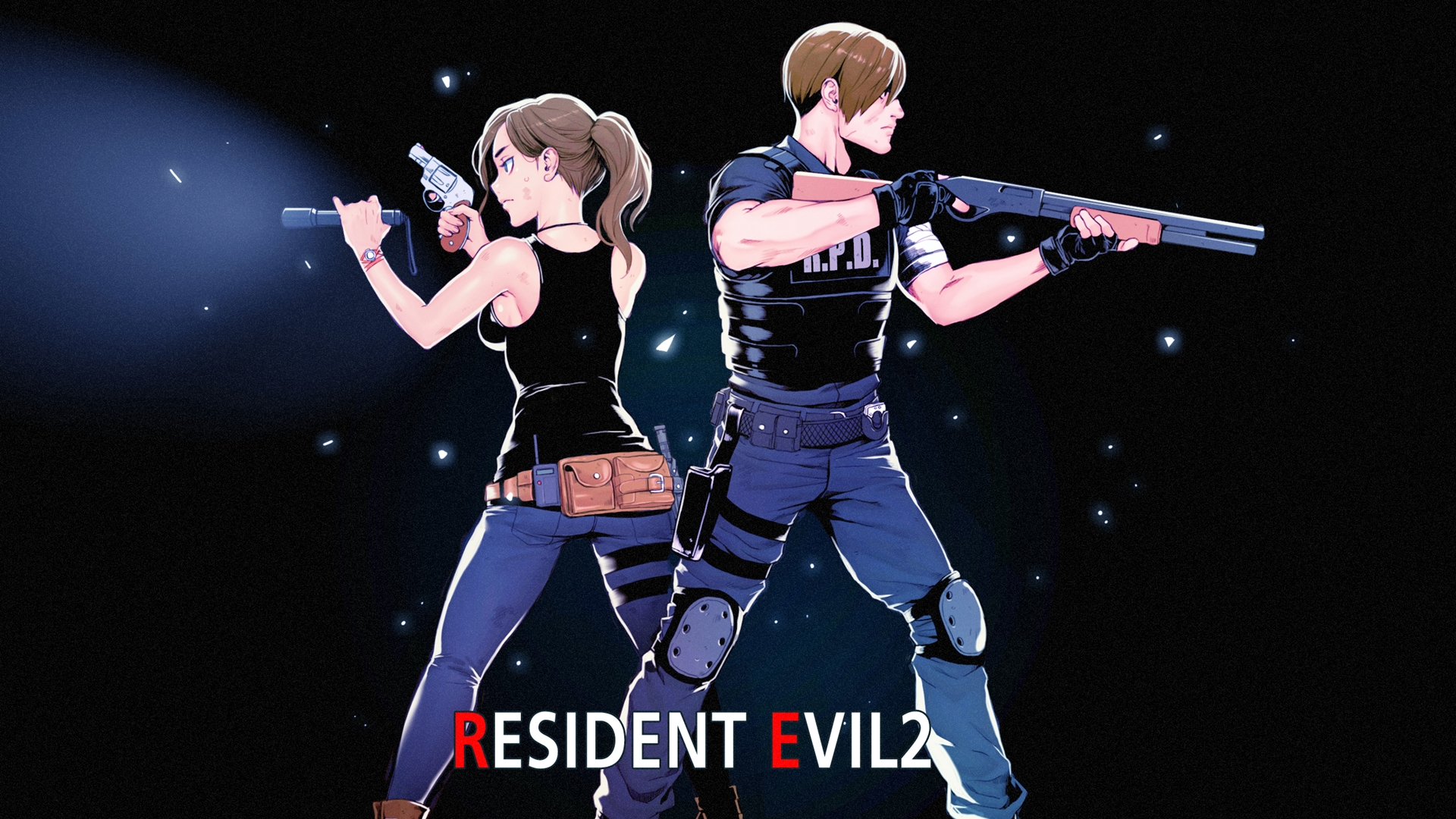 Claire Redfield Leon S Kennedy Resident Evil 2 Wallpaper