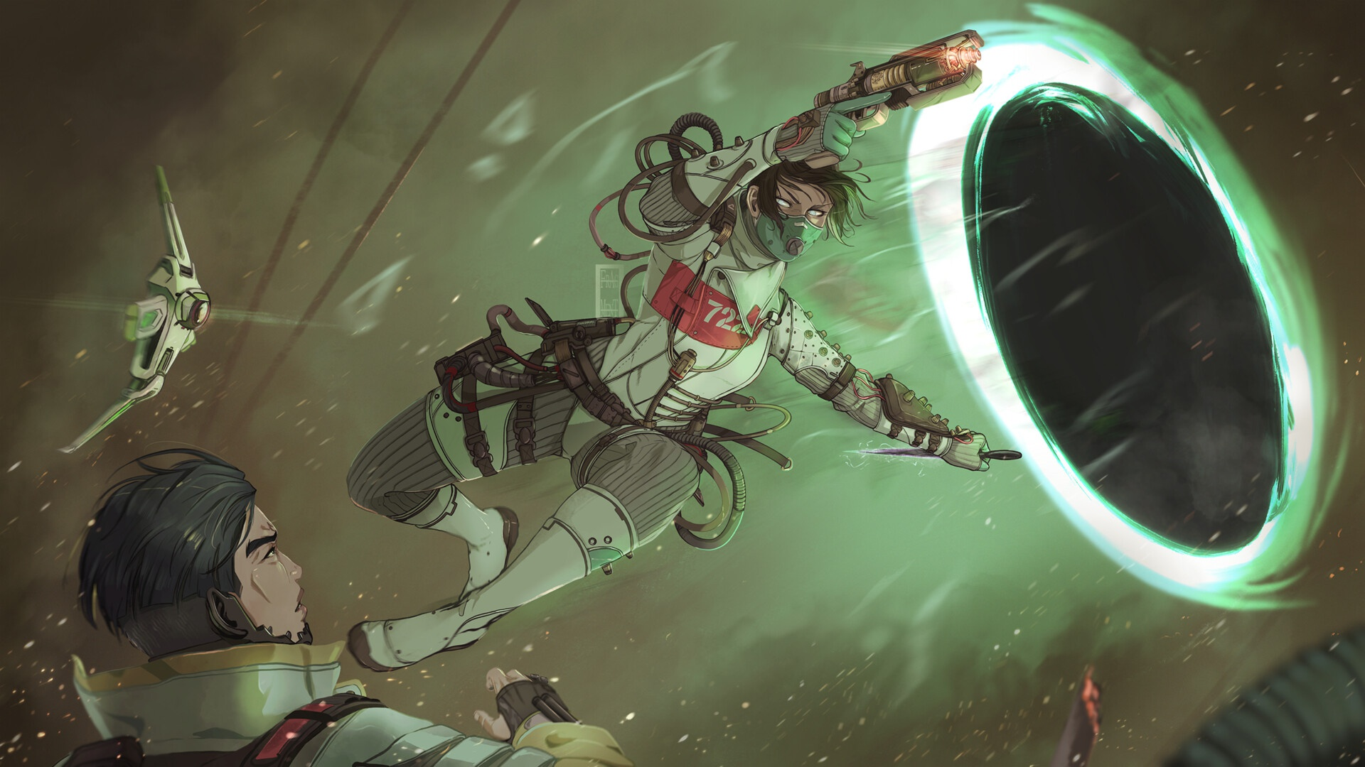 Wallpaper Of Video Game Apex Legends Wraith Background Hd Image