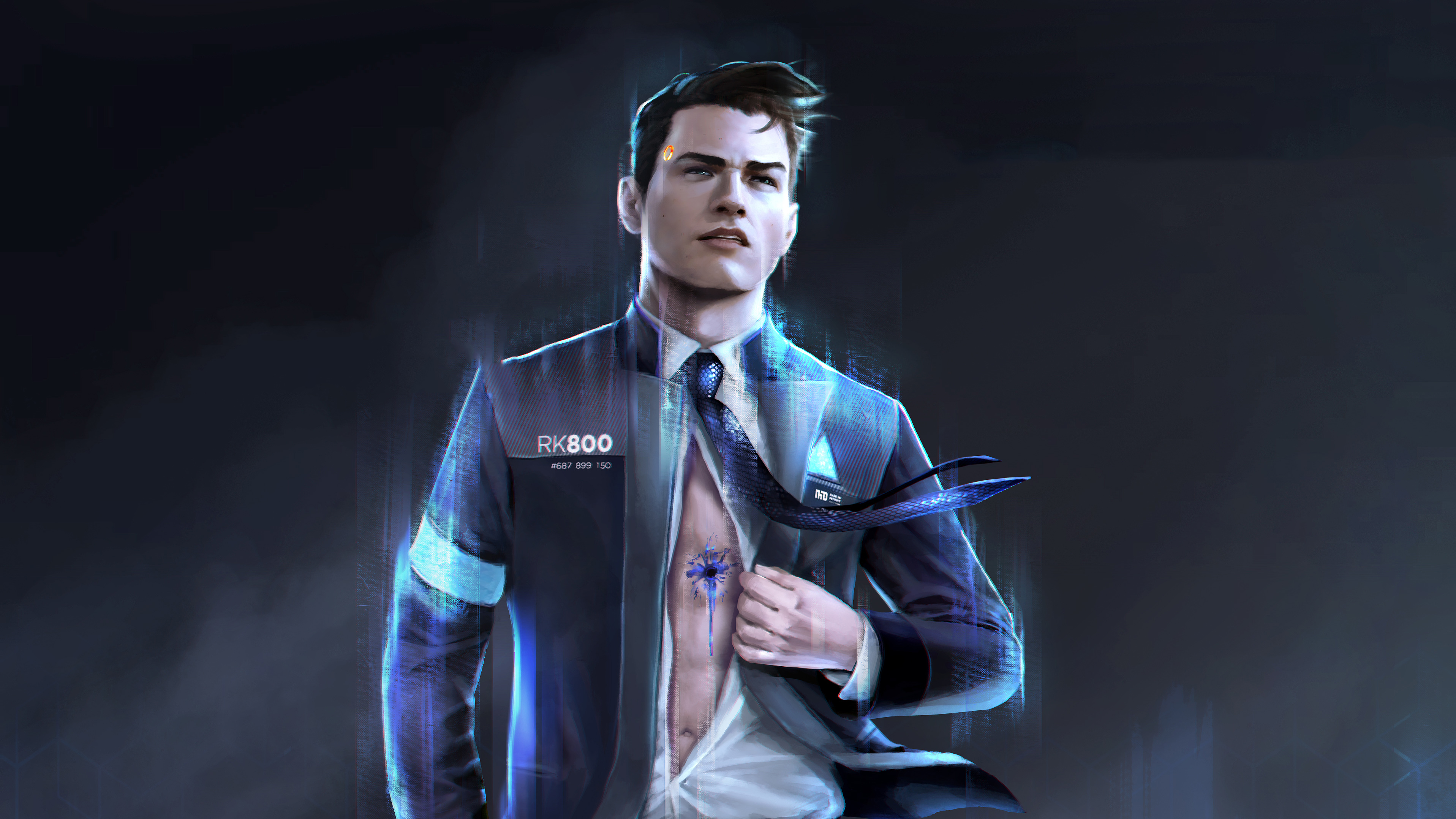 Wallpaper Of Video Game Connor Detroit Become Human Background