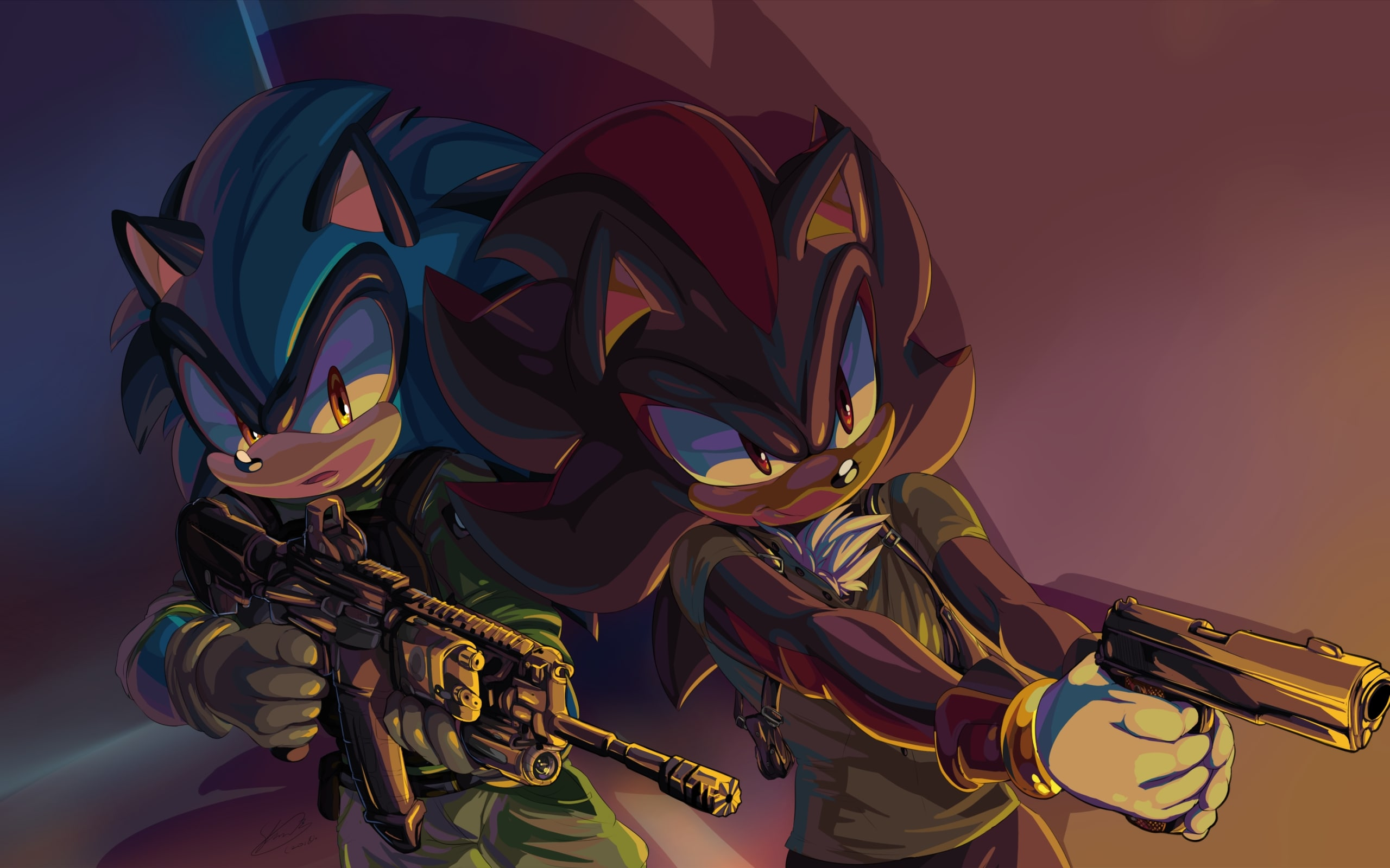 Shadow Sonic The Hedgehog Weapon Video Game Wallpaper