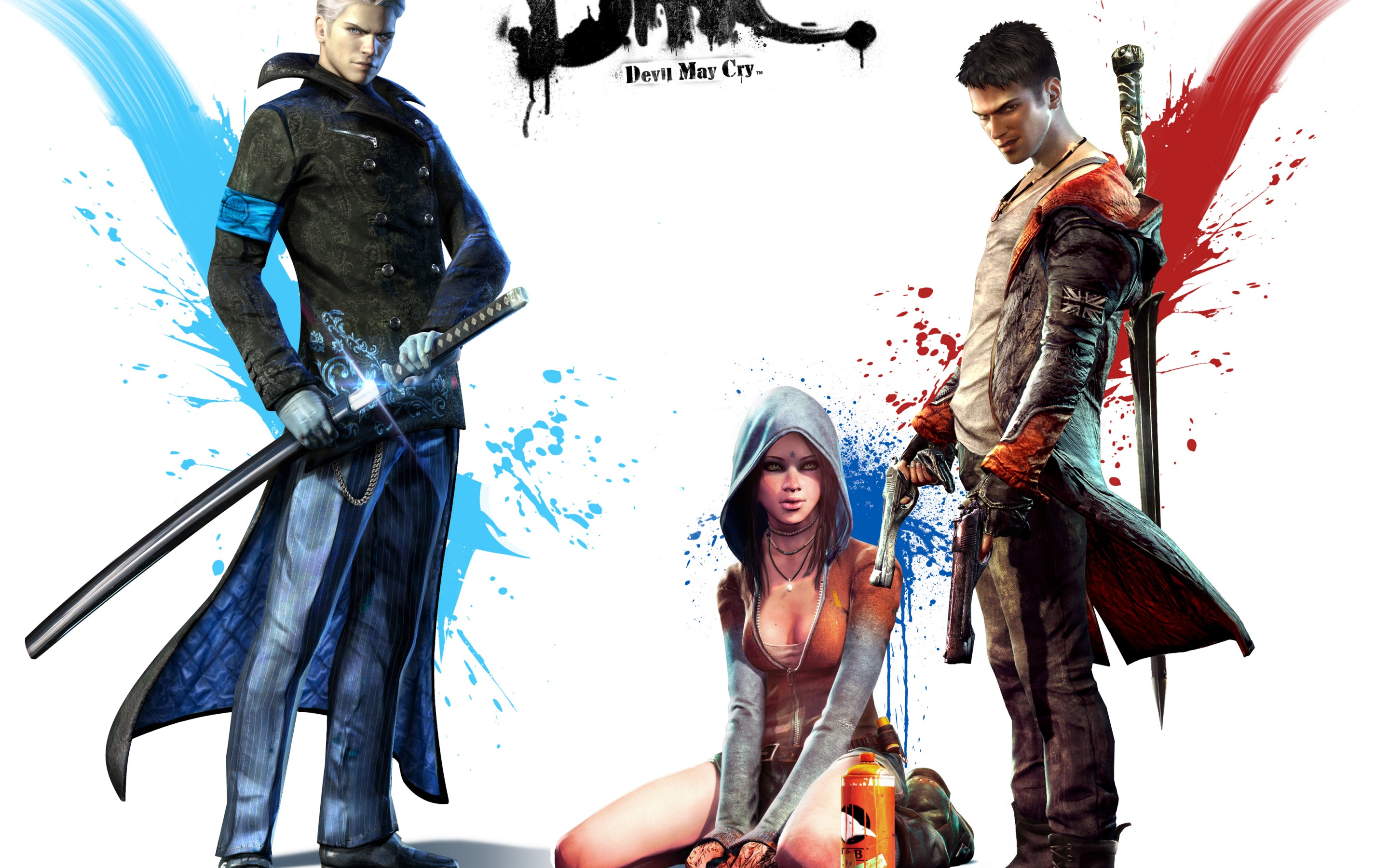Wallpaper Of Devil May Cry 5 Kat Dante Vergil Background