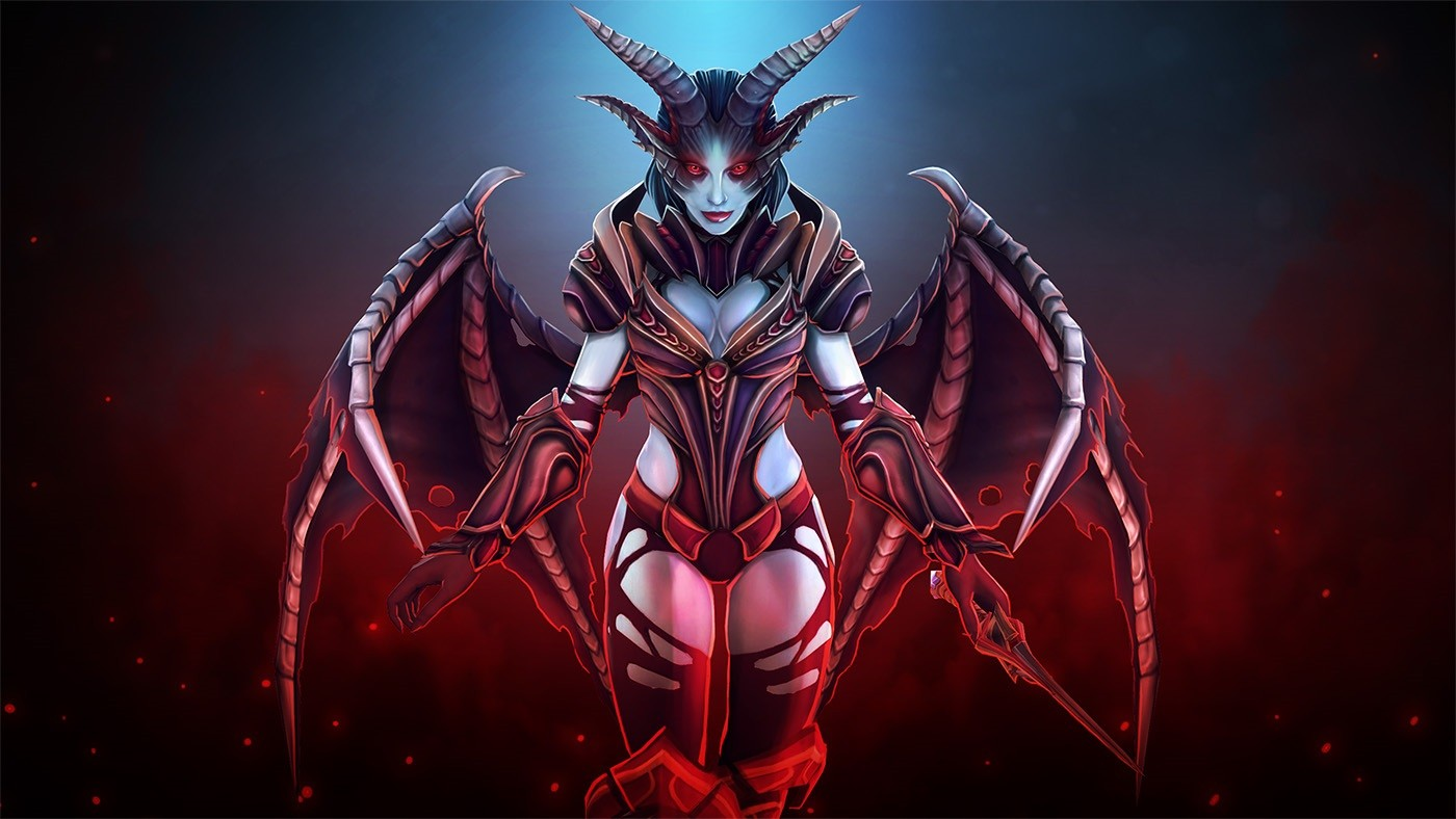 Wallpaper Of Dota 2 Queen Of Pain Background Hd Image