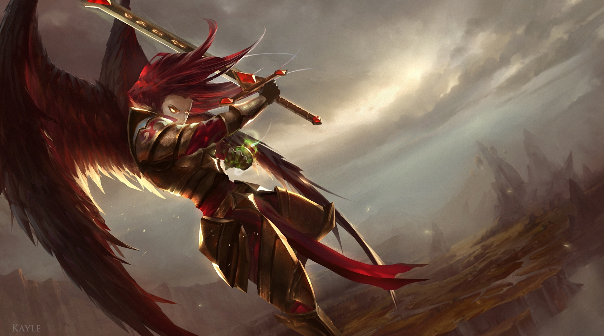 Wallpaper League Of Legends Kayle Desktop Picture Hd Photo