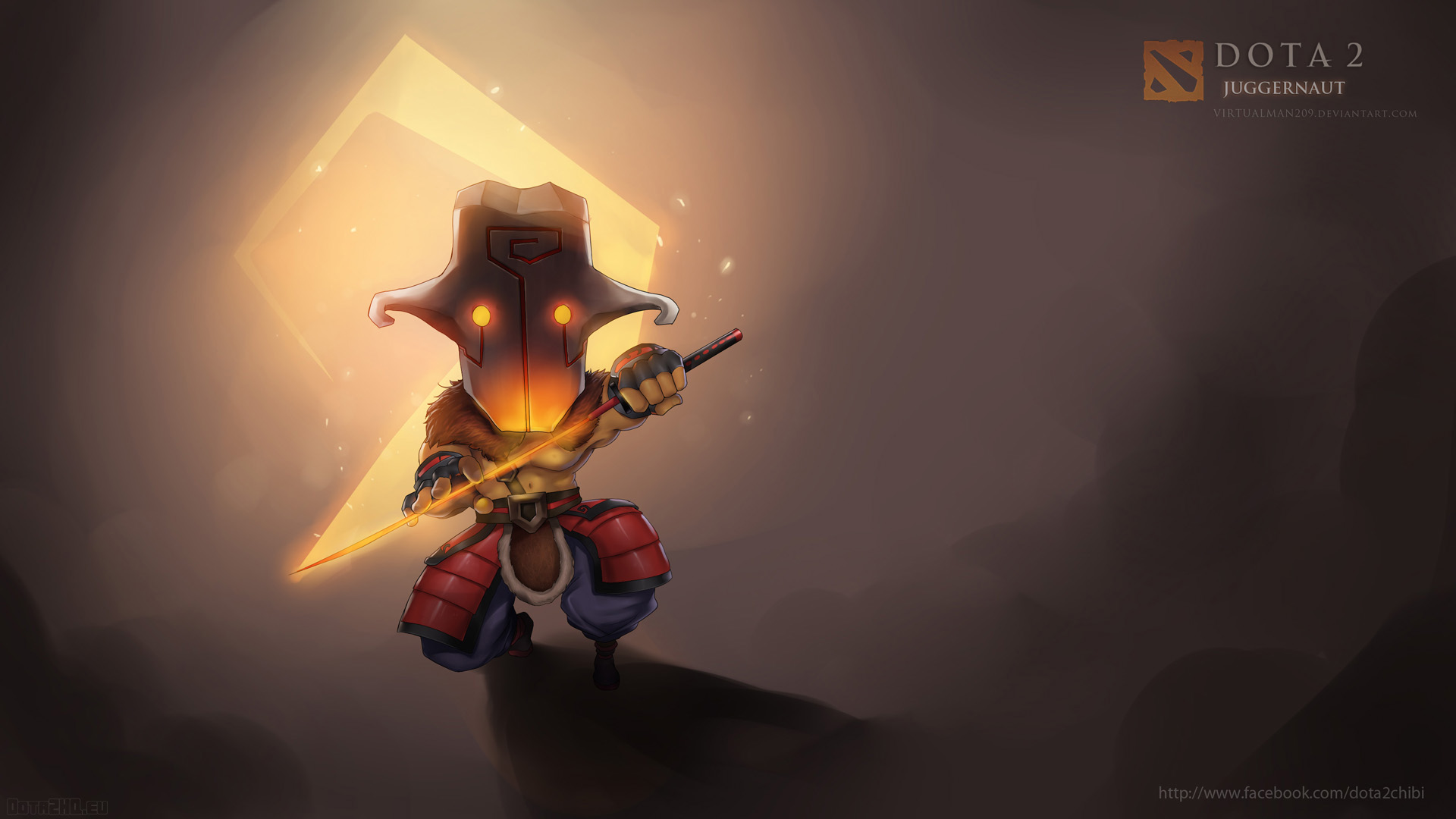 HD Wallpaper Of Juggernaut Dota 2 Chibi