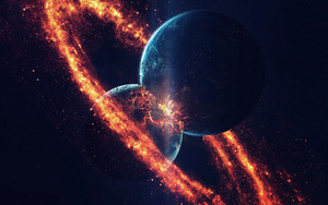 Preview wallpaper of Collision, Planet, Space