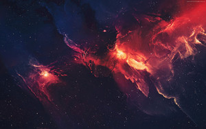 Preview wallpaper of Red, Galaxy, Space