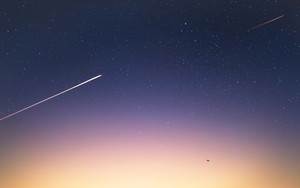 Preview wallpaper of Sky, Stars, Aircraft