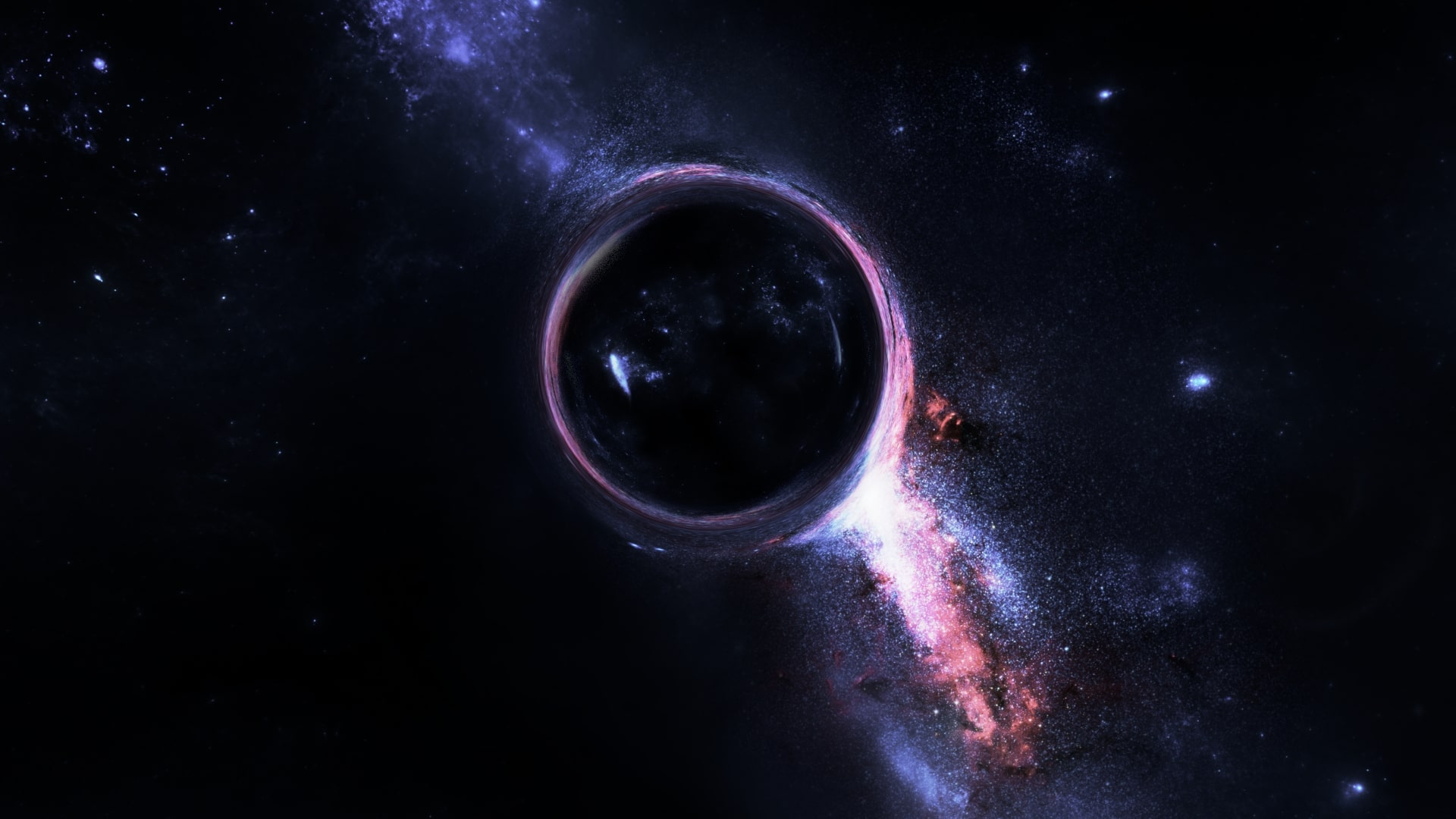 Wallpaper of black hole space galaxy background hd image - Black space wallpaper ...