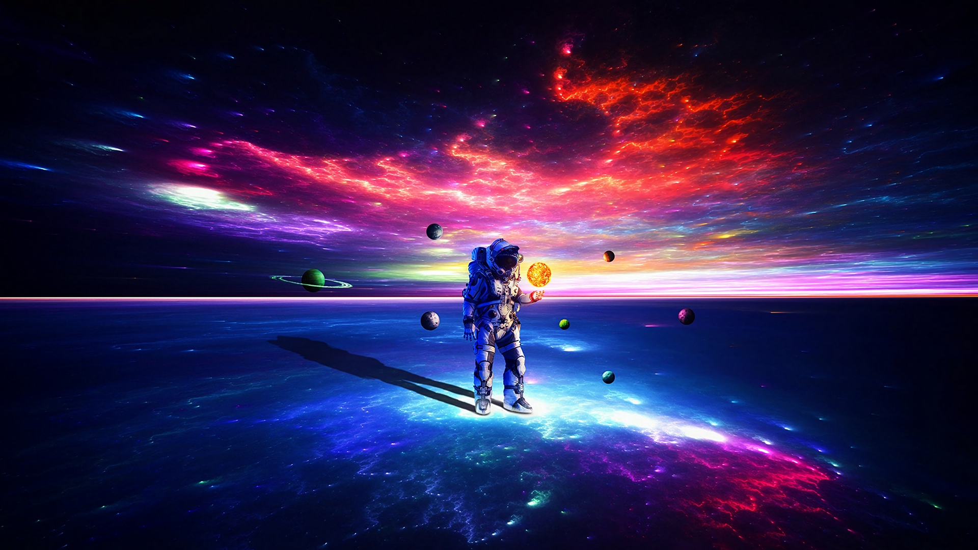 Wallpaper Of Astronaut Planet Sci Fi Space Background
