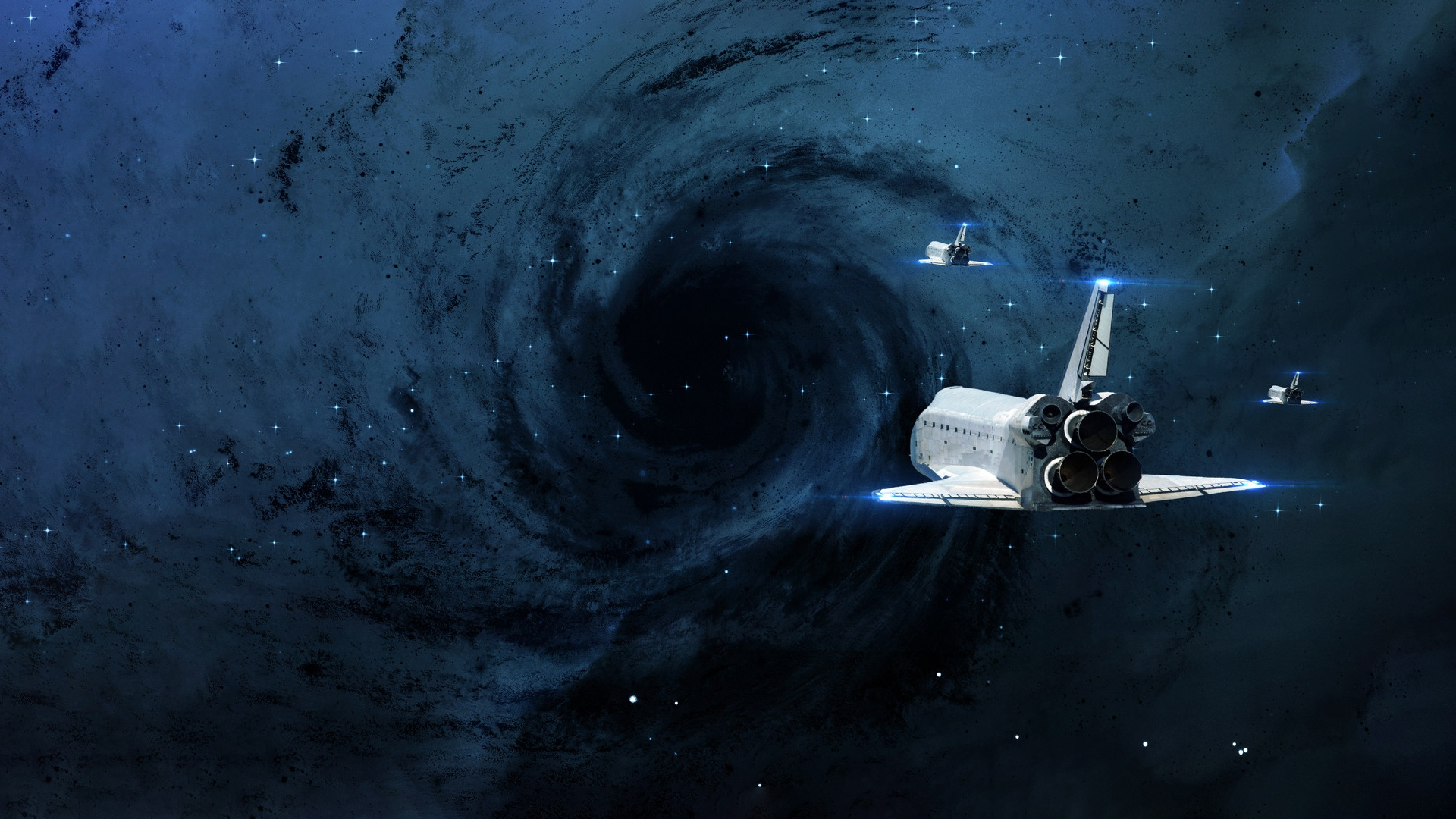 Wallpaper of space shuttle space stars black hole - Black space wallpaper ...